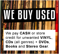 We buy used vinyl records and stereo equipment