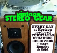Horizon sells vintage stereo gear: Turntables, Receivers and More